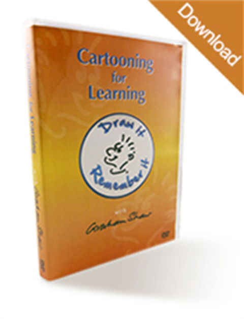 Cartooning for Learning DVD - Draw it and remember it!